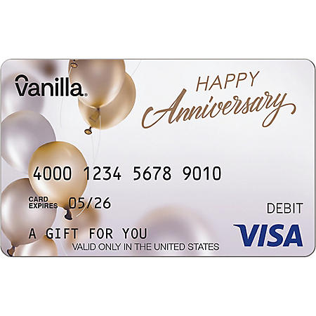 Vanilla eGift Visa® Virtual Account - Anniversary Various Amounts (Email Delivery)
