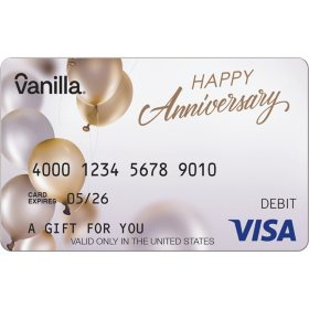 Vanilla eGift Visa® Virtual Account - Anniversary Various Amounts (Email Delivery)