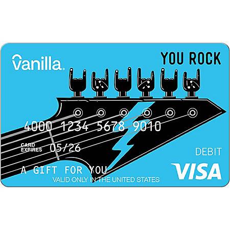 Vanilla eGift Visa® Virtual Account - You Rock Various Amounts (Email Delivery)