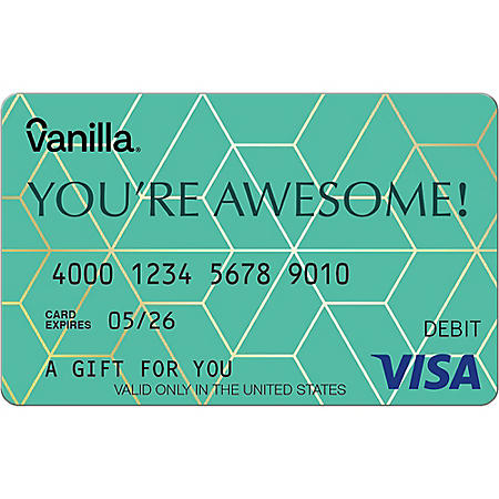 Vanilla eGift Visa® Virtual Account - You're Awesome Various Amounts (Email Delivery)