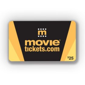 Movietickets.com $25 Gift Card 1 x $25