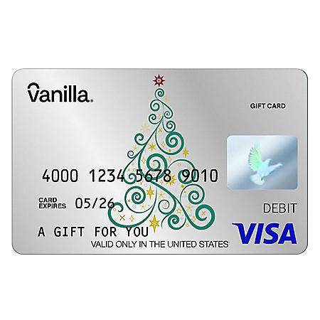Silver Stars Swirly Tree Vanilla eGift Visa® Virtual Account - Various Amounts (Email Delivery)