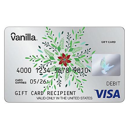 Silver Stars Snowflake Vanilla eGift Visa® Virtual Account - Various Amount (Email Delivery)