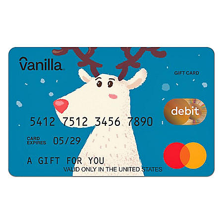 Snowy Reindeer Vanilla eGift Mastercard® Virtual Account - Various Amounts (Email Delivery)
