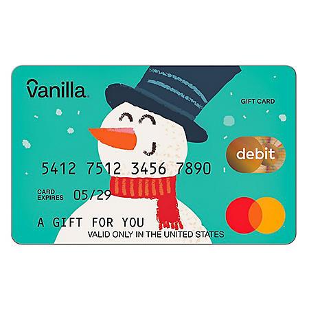 Snowy Snowman Vanilla eGift Mastercard® Virtual Account - Various Amounts (Email Delivery)