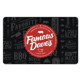 Famous Dave's eGift Card - Various Values (Email Delivery)