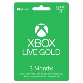 Xbox 3-Month Live Gold Subscription - $24.99