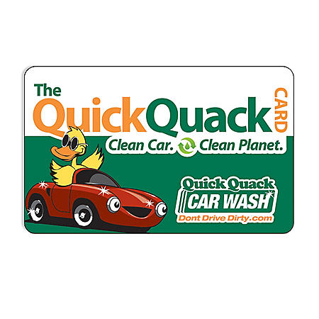 Quick Quack Car Wash $50 Value Gift Card - 1 x $50