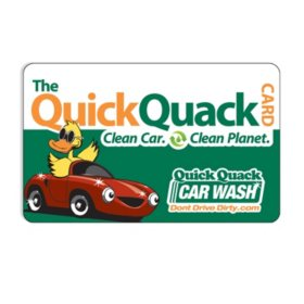 Quick Quack Car Wash $50 Value Gift Card - 1 x $50