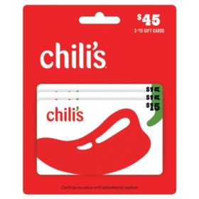 Chili's, Maggiano's, and On The Border $45 Value Gift Cards - 3/$15