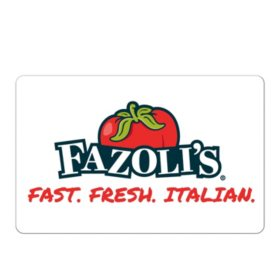 Fazoli's $50 (Email Delivery)