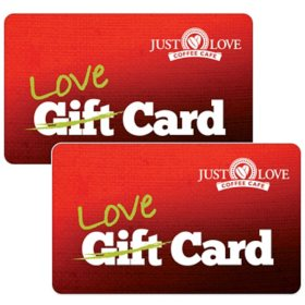 Just Love Coffee $50 Value Gift Cards - 2 x $25