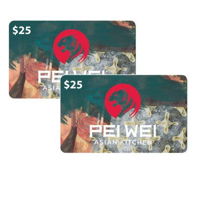 $50 (2 x $25) Pei Wei Value Gift Cards
