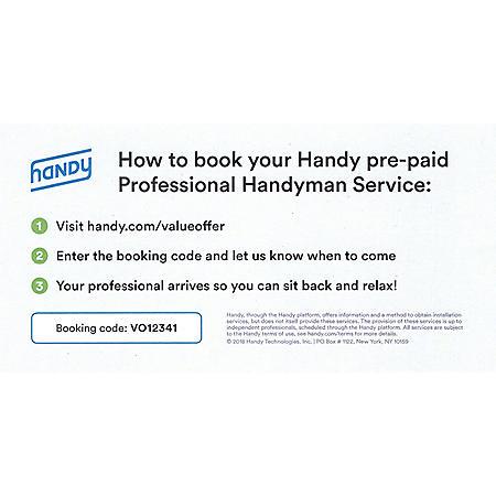 Handy.com 2 Hours of Professional Handyman Services - $100 Value