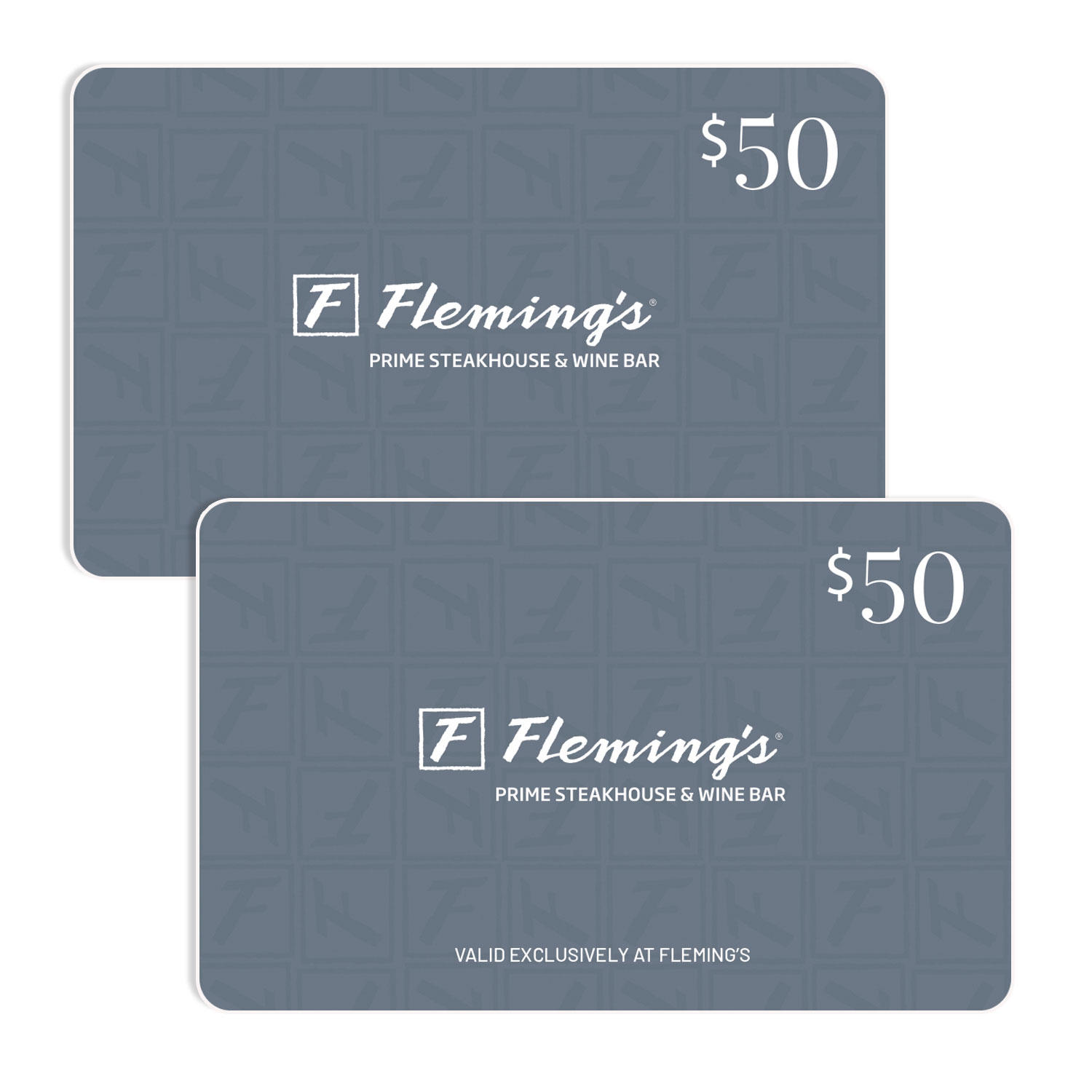$100 (2 x $50) Fleming's Prime Steakhouse Gift Cards