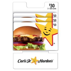 Carl's Jr. / Hardee's $30 Value Gift Cards - 3 x $10