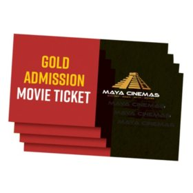 Maya Cinemas $60 Value Tickets - 4 x $15