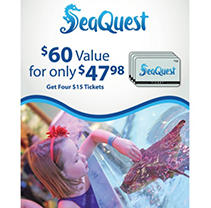 Seaquest $60 Value - 4 Day Tickets