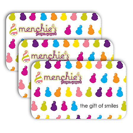 Menchie's $30 Value Gift Cards - 3 x $10