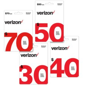 Verizon Refill eGift Card - Various Amounts (Email Delivery)