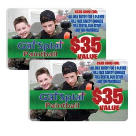 Gat Splat $70 Value Gift Cards - 2 x $35