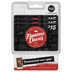 Famous Dave's $45 Gift Card Multi-Pack
