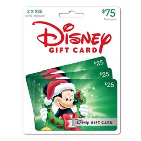 Disney $75 Value Gift Cards - 3 x $25