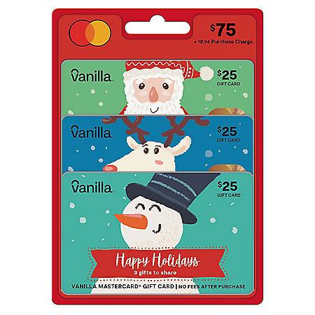 $75 Multi-pack (3x$25) Vanilla Mastercard® Gift Card