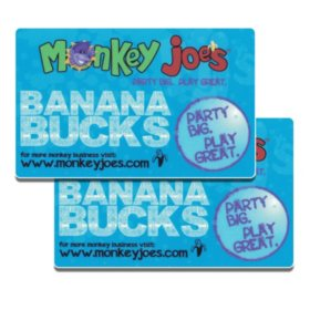 Monkey Joe's Parties & Play $50 Value Gift Cards - 2 x $25