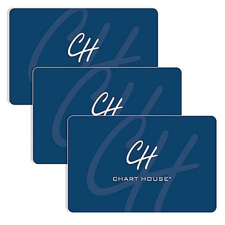 Chart House (Landry's) $90 Value Gift Cards - 3 x $25 Plus $15 Bonus