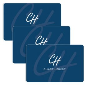 Chart House (Landry's) $90 Value Gift Cards - 3 x $25 Plus $15 Bonus