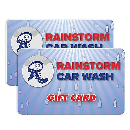 Rainstorm Express Car Wash $50 Value Gift Cards - 2 x $25