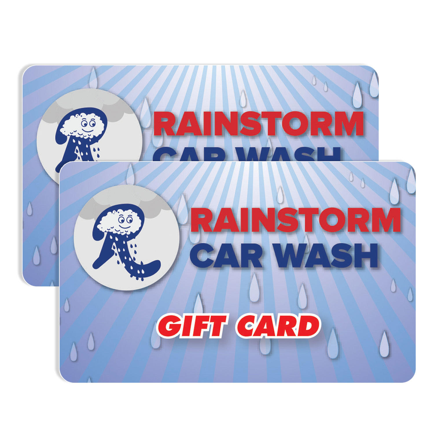 $50 (2 x $25) Rainstorm Express Car Wash Gift Cards
