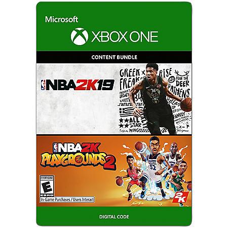 NBA 2K19 & Playgrounds Bundle (Xbox One) - Digital Code
