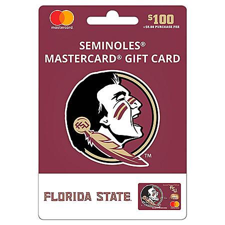 $100 UFan Florida State Mastercard Gift Card