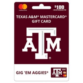 $100 UFan Texas A&M Mastercard Gift Card