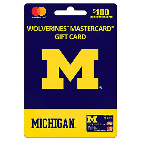 $100 UFan University of Michigan Mastercard Gift Card