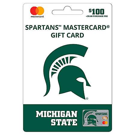 $100 UFan Michigan State Mastercard Gift Card