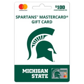 $100 UFan Michigan State Mastercard Gift Card