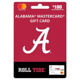 $100 UFan University of Alabama Mastercard Gift Card
