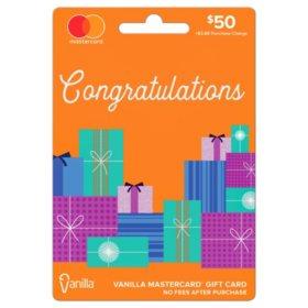 $50 Vanilla Mastercard Gift Card - Congratulations