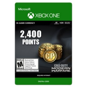 Call of Duty: Modern Warfare Points - 2,400 (Xbox One) - Digital Code (Email Delivery)