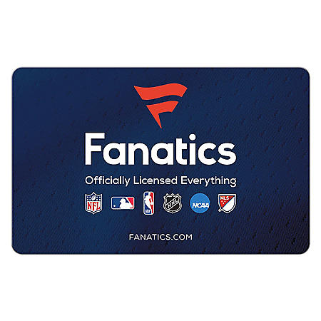 Fanatics eGift Card - Various Amounts (Email delivery)