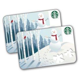 Starbucks $50 Value Gift Cards - 2 x $25