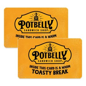 Potbelly Sandwiches $50 Value Gift Cards - 2x $25