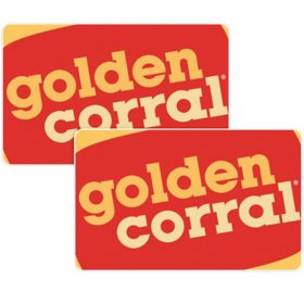 Golden Corral $50 Value Gift Cards - 2 x $25
