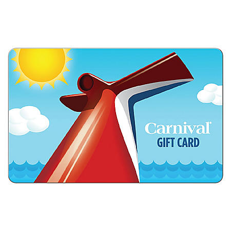 Carnival Cruise Line $100 Value Gift Card