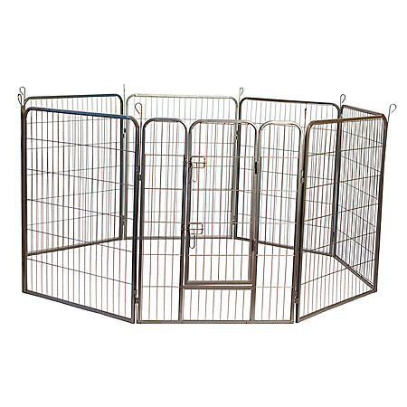 Iconic Pet Metal Tube Pen Dog Exercise and Training Playpen (Choose Your Size)