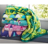 """Kids Reversible Throw 50"""" x 60"""" (Assorted Colors)"""