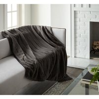 """Crafted by Catherine 50"""" x 60"""" Channel Cut Faux Rabbit Fur Throw (Assorted Colors)"""
